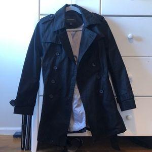 Black banana republic trench coat